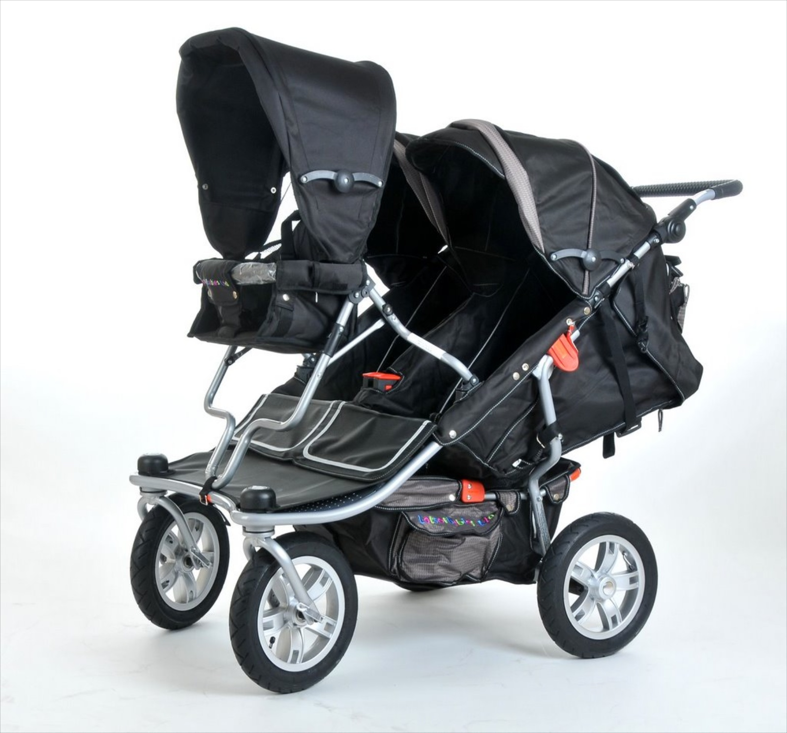 T3 triple pushchair - lotsofbabies